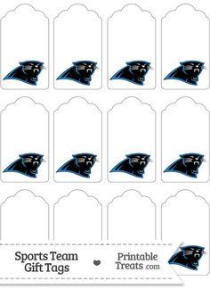Carolina Panthers Gift Tags from PrintableTreats.com