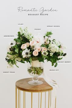 Romantic garden bouquet recipe