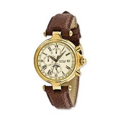 Men's Steinhausen Ivory Dial Leather Band Automatic Watch - SalmaWatches.com $484.95 w/free shipping
