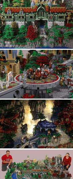 Rivendell made from legos - 200,000 Pieces!!! THIS IS SO AWESOME!!!