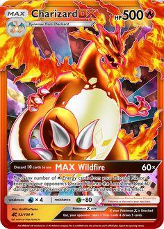 Charizard DX Extended Art Custom Pokemon Card - Anime and Manga World 2020 Pokemon Cards Charizard, Pokemon Tcg Cards, Oc Pokemon, Pokemon Fusion Art, Cool Pokemon Cards, Pokemon Eeveelutions, Type Pokemon, Pokemon Trading Card, Pokemon Memes