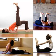 Yoga Poses You Can Do in Bed. Great when you can't fall asleep or to gently wake your mind up in the morning.