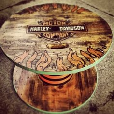 Harley Davidson Spool Table
