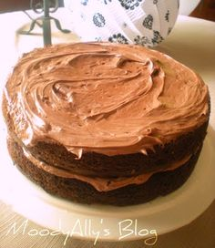 """""""To much chocolate"""" chocolate cake.  Best tweaked boxed cake mix EVER!  So moist and rich! Yum!"""