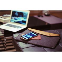 iPhone 6 leather case by Ryan London & MacBook Air felt/leather case by Mujjo