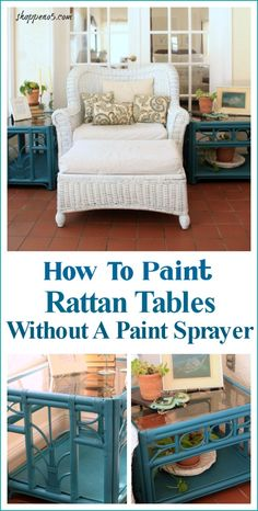 How To Paint Rattan Tables Without A Paint Sprayer