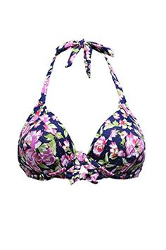 c33e5157370549 Amazon.com  Aleumdr Womens 50s Retro Bikini Swimsuit Swimwear Bathingsuit  Tops Floral XXL  Clothing