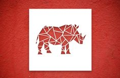 Canvas Cutout #rhino #africanbigfive Cut Canvas, Canvas Art, Origami, Paper Art, Paper Crafts, Geometric Art, Islamic Art, Diy Art, Quilt Blocks