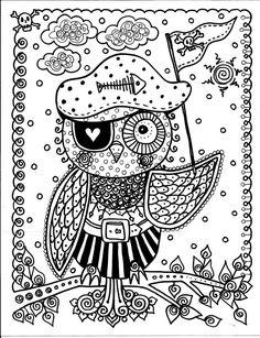 COLORING BOOK hiboux s'amuser et être l'artiste par ChubbyMermaid