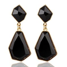 Fashion Fine Jewelry Candy Color Resin Alloy Statement Earring Geometry Acrylic Drop Earrings For Women brinco Accessory PD21