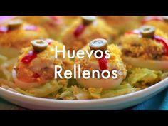 Huevos rellenos - Recetas de cocina fácil - YouTube
