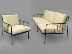 Attrayant Wrought Iron Couch With Matching Chair By George Nelson At 1stdibs