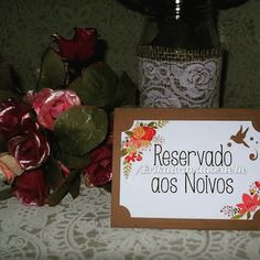Placa Reservados #wedding #placecard #placa