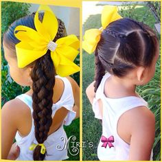 Little Girl Hairstyles Little Girl Hairdos, Girls Hairdos, Lil Girl Hairstyles, Princess Hairstyles, Pretty Hairstyles, Braided Hairstyles, Braided Ponytail, Toddler Hairstyles, Simple Hairstyles For Girls