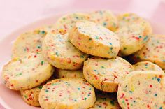 Confetti cookies - I love 100s&1000s!  Be good recipe for fete cake stall.
