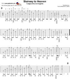 Stairway To Heaven - fingerstyle guitar tablature