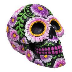Nemesis Now Skull Sugar Petal Moneybox (Multicoloured)