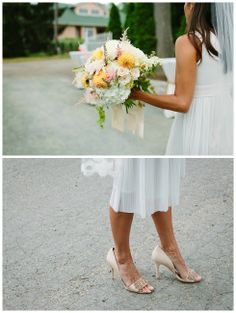 We loved Christina's Union Pier summer #wedding #bouquet! Flowers by Dilly Lily. Photo by Justin Bursoni Photography