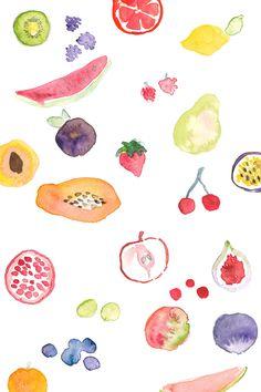 Carla Ellis -fruit pattern