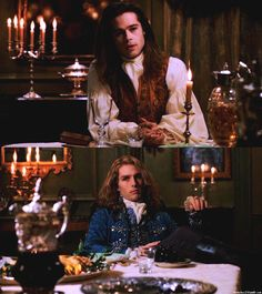 Brad Pitt Tom Cruise Interview With a Vampire Tom Cruise, Brad Pitt, Movies Showing, Movies And Tv Shows, Anne Rice Vampire Chronicles, Lestat And Louis, Werewolf Hunter, Queen Of The Damned, Mayfair