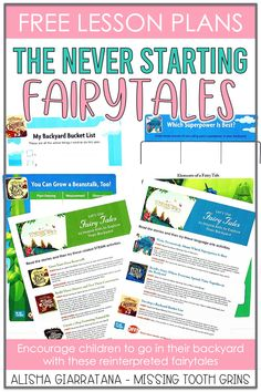The Never Starting Fairytales is a collection of reinterpreted fairytales to inspire families to go outside more #ad. In this different view of fairytales, the characters never go outside so their adventure never begins. Free ELA and STEAM lessons included! It is brought to you by the makers of @OFFrepellent. Outdoor Learning, Home Learning, Student Learning, Story Tale, Free Lesson Plans, Steam Activities, First Grade Classroom, Compare And Contrast, Tooth