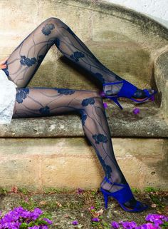 Beautiful sexy tights - Blue - stockings - tights - hosiery - nylons