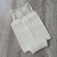 *Sarah Lace Bib Romper * - 6-9mth size -  photography propMade with extra soft Merino wool.Ships within 5-7 days.** Handwash only. Cold water. DO NOT WRING. Lay flat to dry. Some colour may run due to the hand dyed nature of the wool. **
