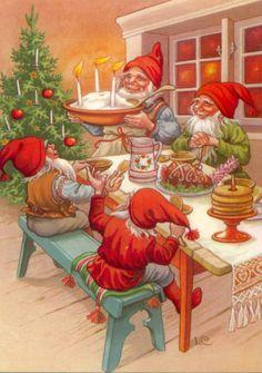 """CHRISTMAS DINNER WITH SANTA'S ELVES"" <3"