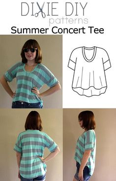 Summer Concert Tee -- debating whether to buy this pattern or not.  Do I really need another project?  But isn't it cute?