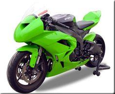 Hotbodies Green Fiberglass Race Bodywork - 2009-12 Kawasaki ZX6R