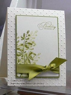 Green and white birthday card.