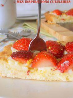 tarte aux fraises Samar, Cheesecake, Fruit, Food, Strawberry Pie, Raspberries, Lemon, Cheesecakes, Essen