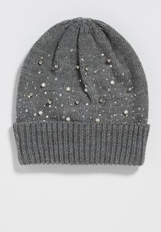 knit hat with faux pearls and rhinestones#wishpinwinsweepstakes #discovermaurices