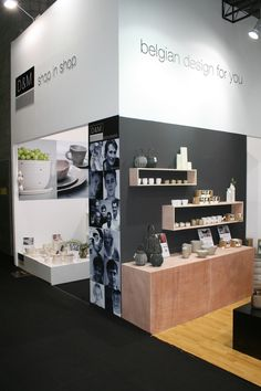 """White D&M Shop-in-Shop corner"" at Furniture China, in Shanghai, Sept 2014."