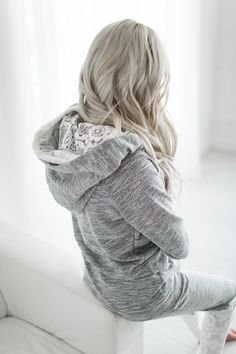 Lace Accent Hoodie [exclusively at Mindy Mae's Market]