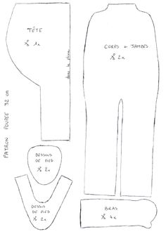 Resultado de imagen de Waldorf vêtements de poupée modèle