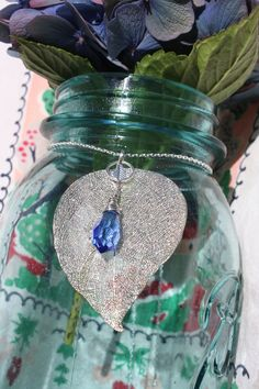 Hey, I found this really awesome Etsy listing at https://www.etsy.com/listing/164599319/silver-filigree-leaf-with-wire-wrapped