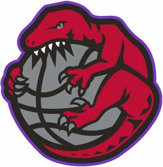 Toronto Raptors Alternate Logo - A Raptor wrapped around and chewing a basketball Basketball Game Tickets, Logo Basketball, I Love Basketball, Basketball Socks, Basketball Leagues, Toronto Raptors, Sports Team Logos, Sports Teams, Basketball Birthday Parties