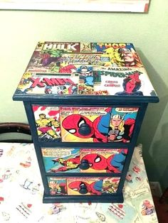 Upcycled, decoupaged bedside drawers, marvel - Visit to grab an amazing super hero shirt now on sale! Upcycled, decoupaged bedside drawers, marvel - Visit to grab an amazing super hero shirt now on sale!