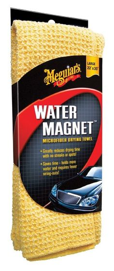 Meguiar's Water Magnet Drying Microfiber Towel Auto body Detail Cars Trucks Wash