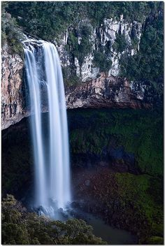 waterfall at Serra Gaucha - Rio Grande do Sul, Brazil Places Around The World, Oh The Places You'll Go, Places To Travel, Places To Visit, Around The Worlds, Rio Grande Do Sul, Beautiful Waterfalls, Beautiful Landscapes, Wonderful Places