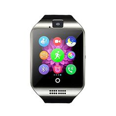 Dohomai Newest Q18 Smart Watch Bluetooth Smartwatch Phone with Camera TF/SIM Card Slot for Android Samsung Galaxy S7,S6,S5,Note 5,HTC,SONY,LG,Huawei,Google Nexus (silver) -- Be sure to check out this awesome product.