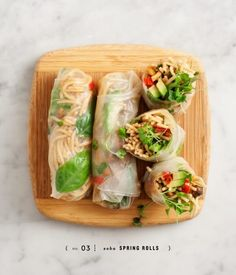 tinykitchenvegan: Peanut Soba Spring Rolls - March 03 2019 at - and Inspiration - Plant-based - Vegan Recipes And Delicious Nutritious Meals - Vegetarian Weighloss Motivation - Healthy Lifestyle Choices Think Food, I Love Food, Vegetarian Recipes, Cooking Recipes, Healthy Recipes, Lunch Recipes, Vegetarian Picnic, Vegetarian Spring Rolls, Healthy Picnic
