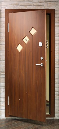 Click to Close Wooden Front Door Design, Door And Window Design, Home Door Design, Bedroom Door Design, Door Design Interior, Wooden Front Doors, Flush Door Design, Modern Wooden Doors, Internal Wooden Doors