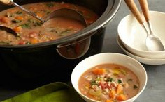 Slow cooker bean and barley soup