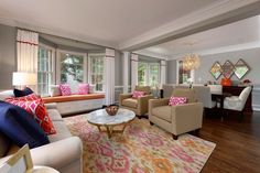 Colorful Living Room by #OlamarInteriors