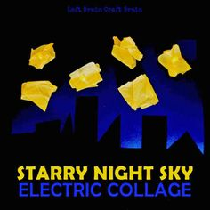 Create this starry night sky that lights up with real LED's and electric circuits. Perfect for STEM education for elementary and preschool aged kids. Steam Activities, Science Activities For Kids, Stem Science, Science Lessons, Teaching Science, Science And Nature, Science Ideas, Science Electricity, Static Electricity