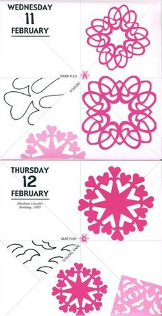 Paper Snowflakes - Winter parlor decor?