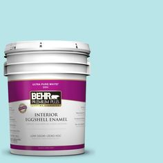 BEHR Premium Plus 5-gal. #500A-2 Refreshing Pool Zero VOC Eggshell Enamel Interior Paint