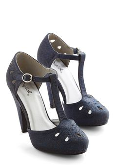 Dynamic Debut Heel in Midnight Blue | Mod Retro Vintage Heels | ModCloth.com